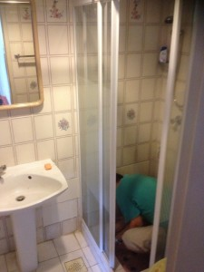 Repair to Shower panel